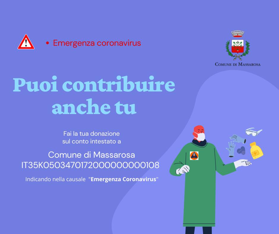 Emergenza Coronavirus, raccolta di fondi a Massarosa