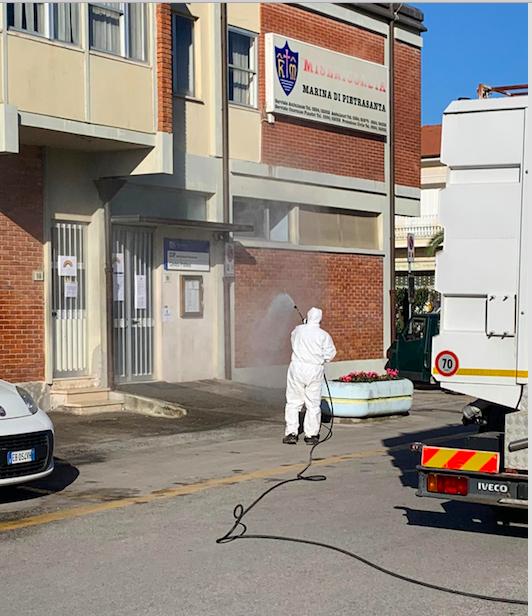Emergenza Sanitaria: iniziato programma disinfezione, sarà periodica e frequente in tutta la città