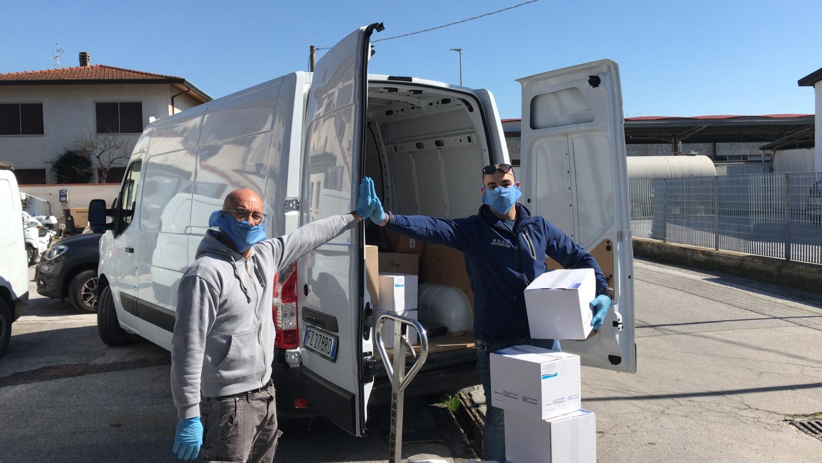 Coronavirus, il cuore del Varignano è grande: Massimo e Luca Vairo donano 7mila mascherine
