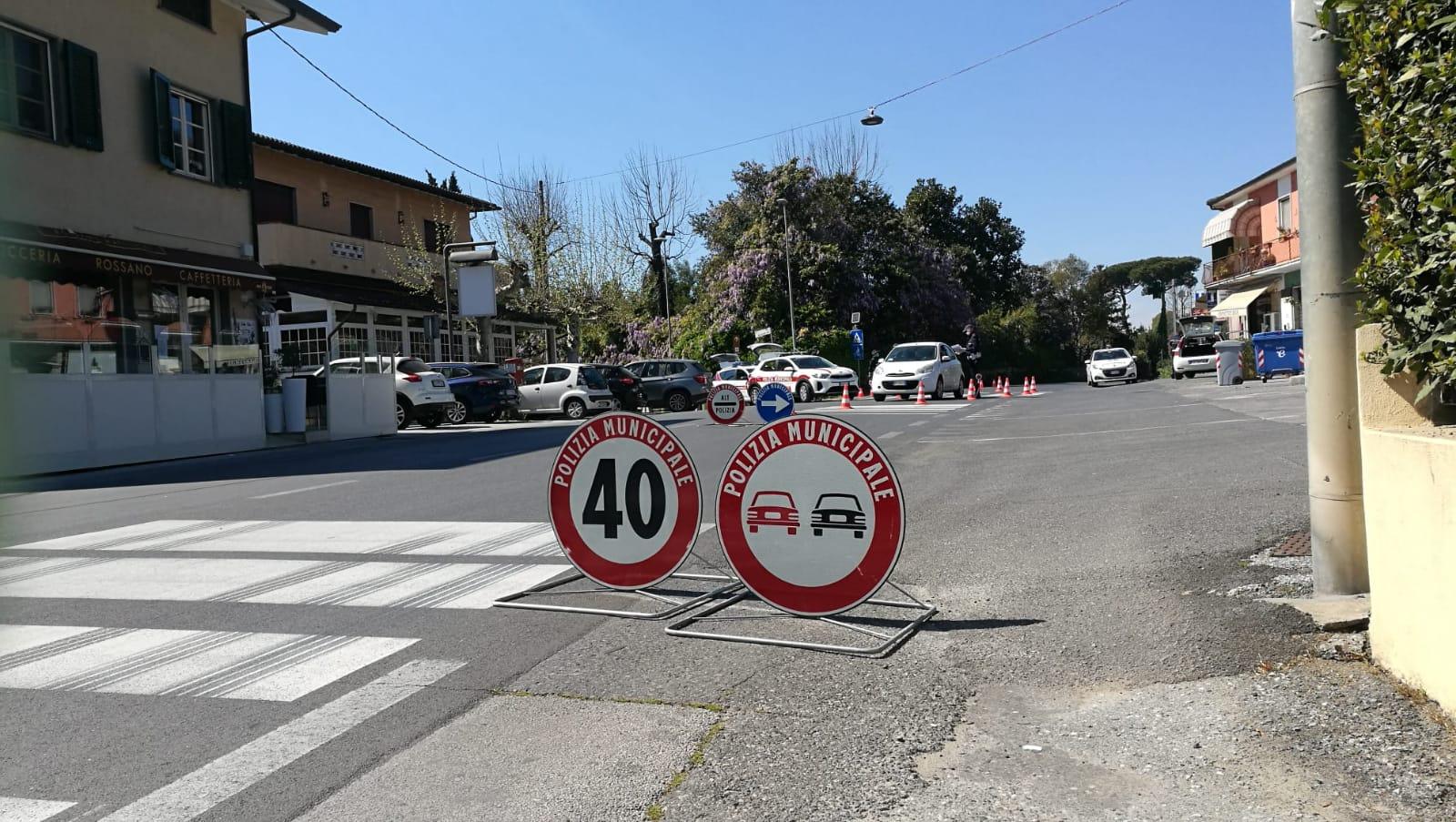 I controlli della Municipale a Camaiore