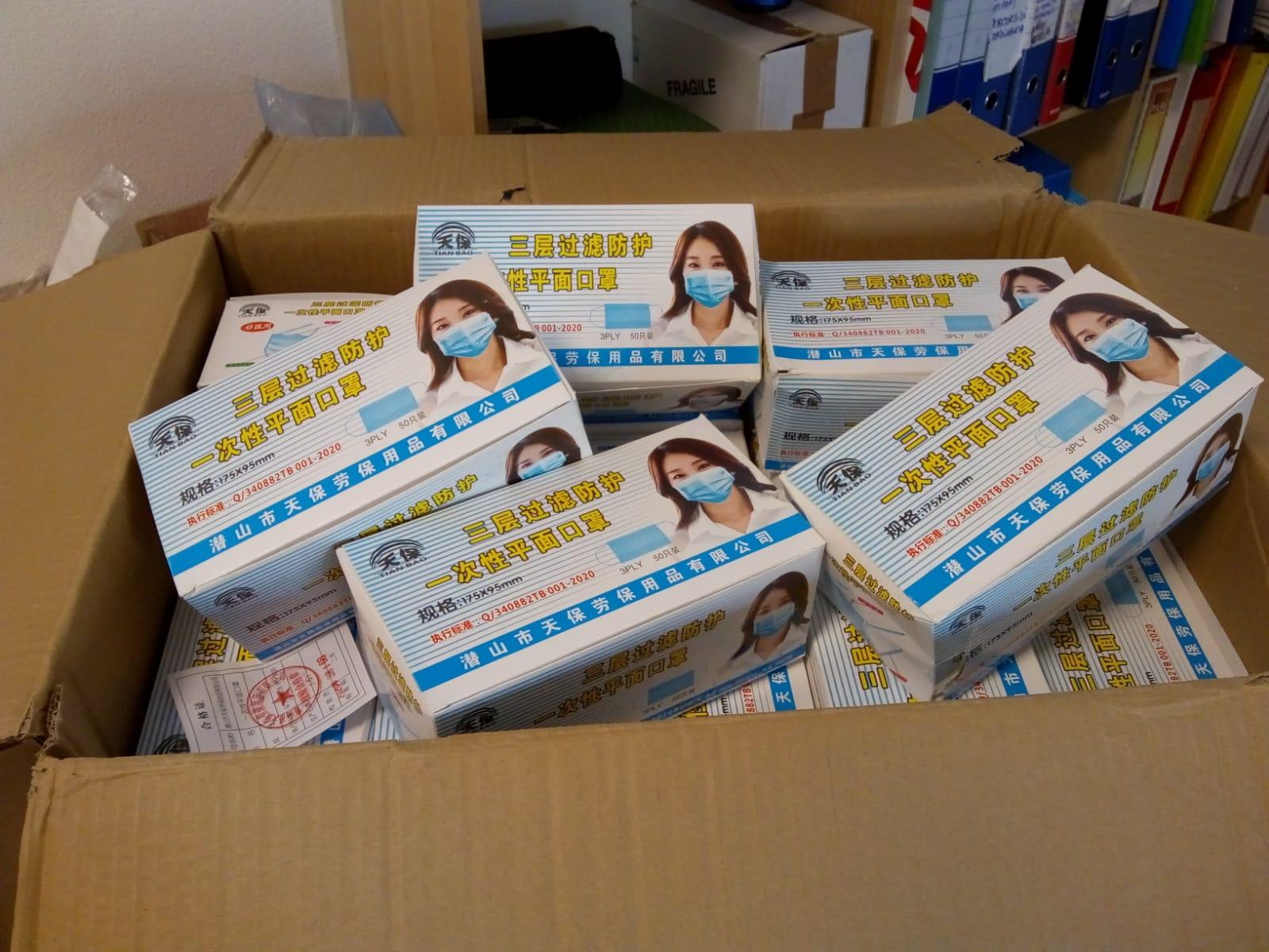 La Diocesi di Ningxia (Cina) ha donato 6mila mascherine alla Diocesi di Lucca