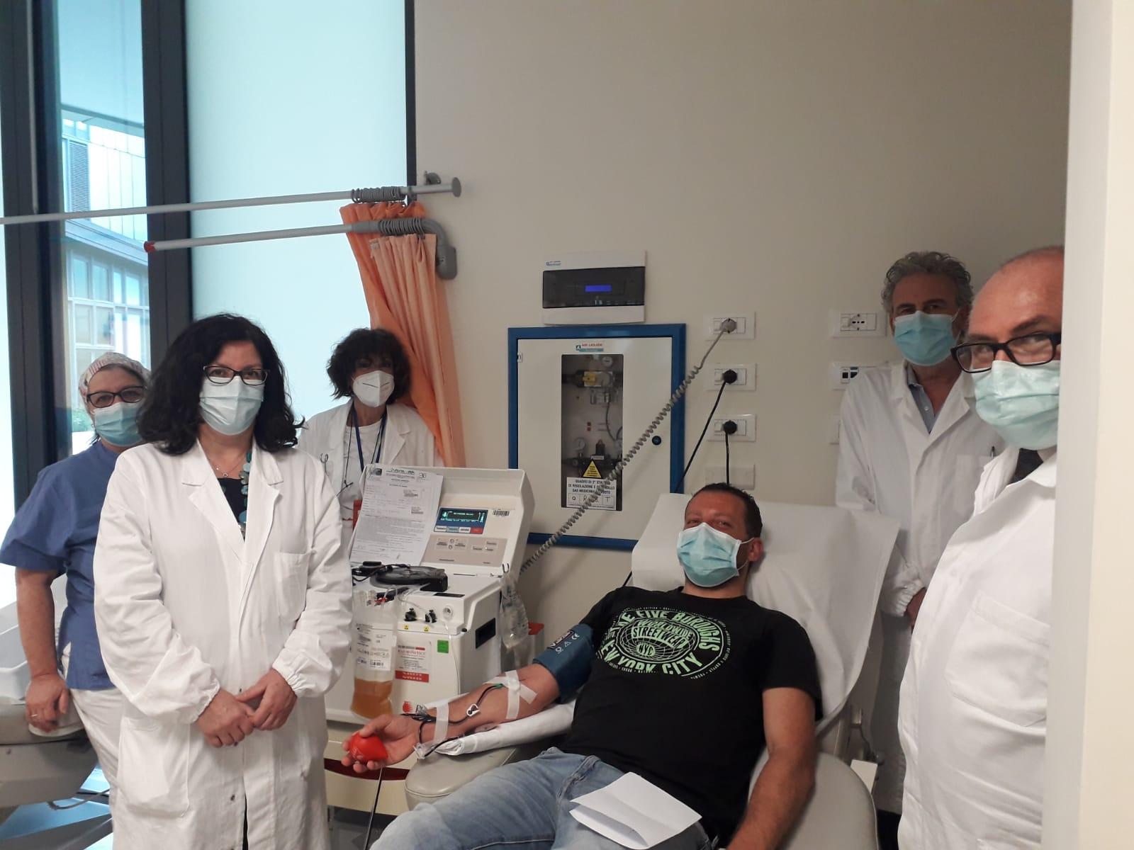 """Prima donazione di plasma iperimmune all'ospedale """"San Luca"""" di Lucca"""