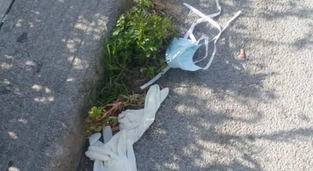 """Guanti e mascherine abbandonate in terra, il sindaco di Viareggio: """"Ma non vi vergognate?"""""""