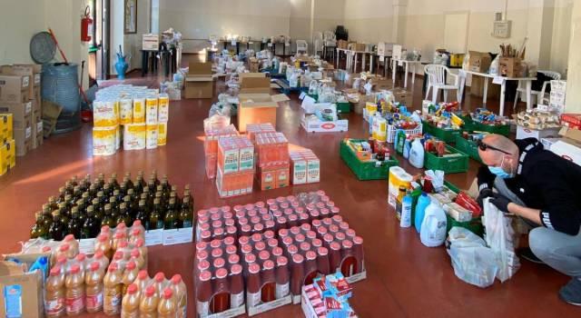 70 pacchi alimentari a settimana, 450 buoni spesa consegnati fino ad oggi, 149 famiglie assistite