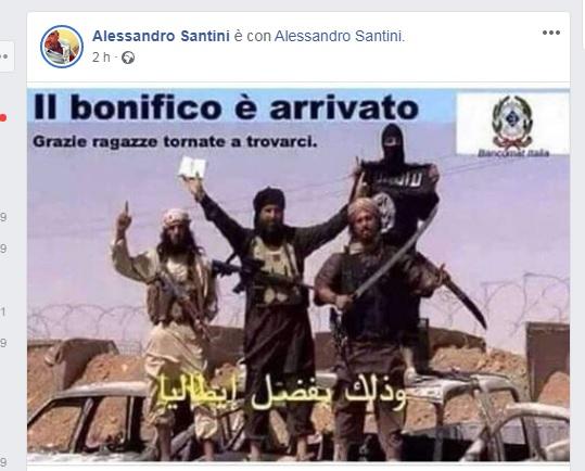 """""""Santini e la foto dell'ISIS, cosa di cattivo gusto"""""""