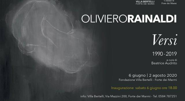 """Villa Bertelli presenta """"Versi"""", la personale di Oliviero Rainaldi"""