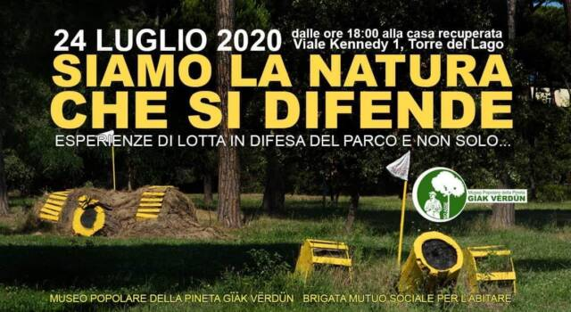 """""""Siamo la natura che si difende"""", iniziativa a Torre del Lago"""