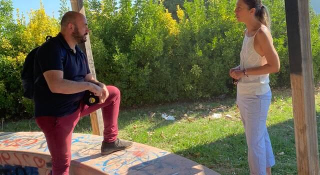 Visita a Bicchio della candidata di destra Paci con Troiso