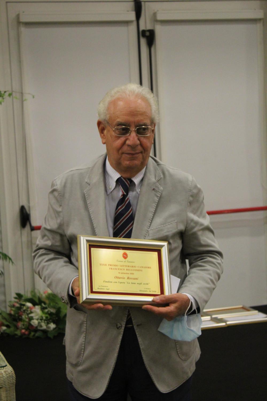 Ottavio Rossani vince il XXXII Premio Letterario Camaiore Francesco Belluomini