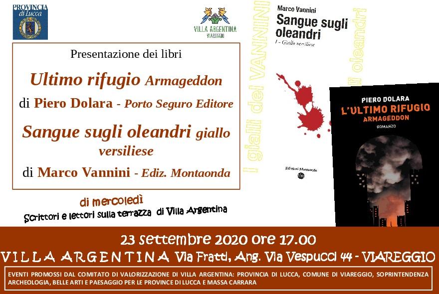 Libri, doppio appuntamento a Villa Argentina