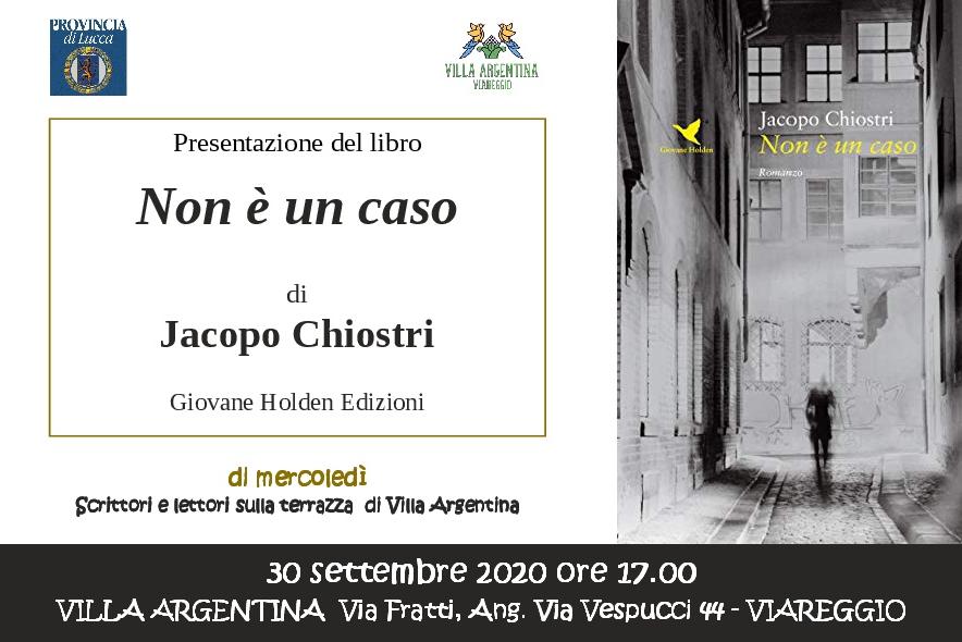 """""""Non è un caso"""" di Jacopo Chiostri a Villa Argentina"""