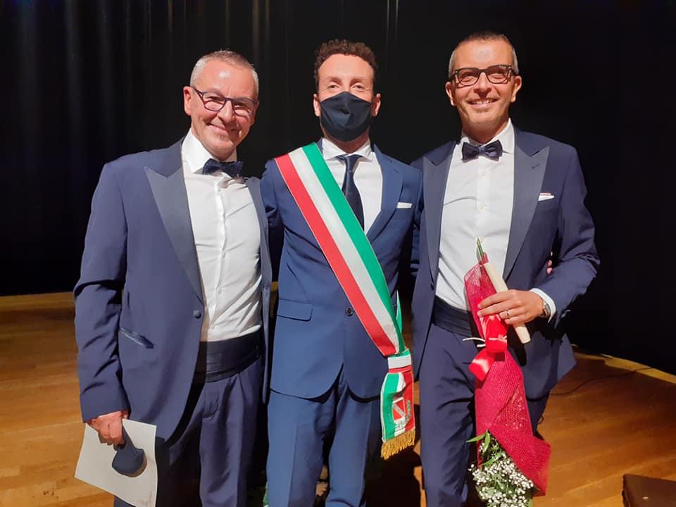 Lo psichiatra Vanni Panzera e l'ingegnere Fabio Bonacci sposi al Teatro dell'Olivo