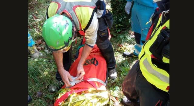 Si infortuna a Casoli, intervento del soccorso alpino