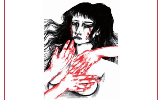 Manifesti nelle vetrine e un drappo rosso in municipio per dire no alla violenza sulle donne
