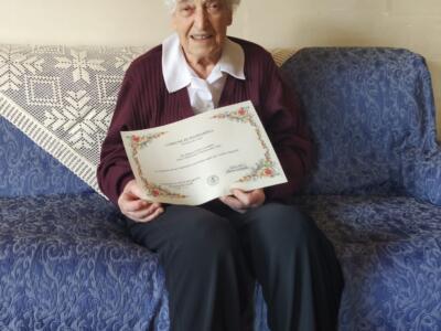 100 anni per Ilma Luchini, gli auguri dell'assessore Puccinelli