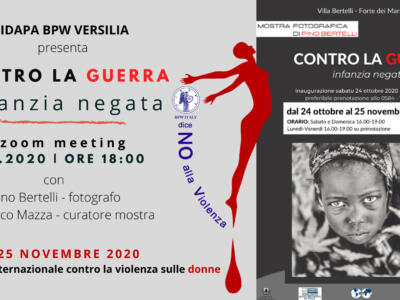 """Incontro on line con l'autore e il curatore a Villa Bertelli per la mostra fotografica """"Contro la guerra. Infanzia negata"""""""