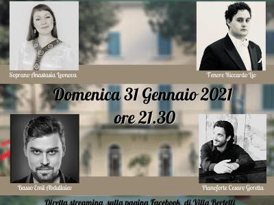 """A Villa Bertelli nuovo appuntamento con la musica """"A viva voce"""""""