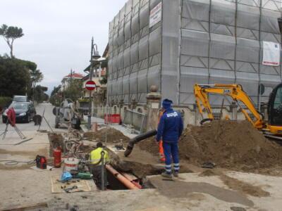 Sicurezza: nuova fognatura in via Tolmino, in corso intervento anti-allagamento a Motrone