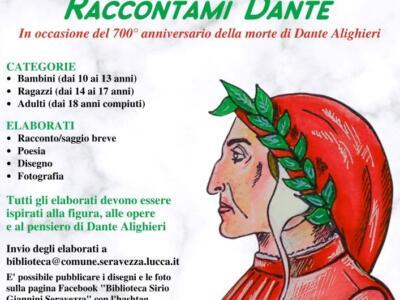 """Al via il concorso """"Raccontami Dante"""" dedicato al Sommo Poeta"""