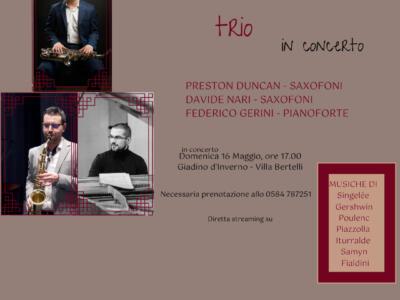 """La rassegna """"L'altra Villa"""" di Villa Bertelli presenta Concerto Klonos Trio"""