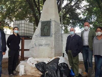 Sant'Anna, sta per terminare il restauro del monumento ai caduti nei lager