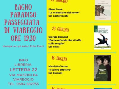 """Michele Cecchini apre la rassegna """"Libri al mare"""""""