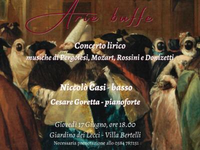 Villa Bertelli: concerto lirico con Cesare Goretta al pianoforte e Niccolò Casi basso