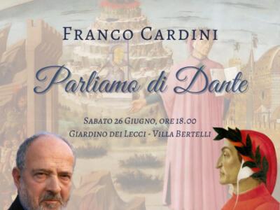 """Lo storico, saggista e scrittore Franco Cardini ospite alla rassegna """"Dante 700 in Villa """" a Villa Bertelli"""