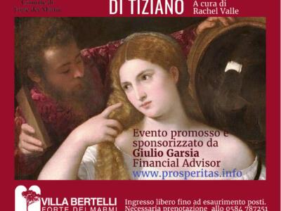 """Villa Bertelli: """"Il fascino segreto di Tiziano"""" con Francesca Rachel Valle"""