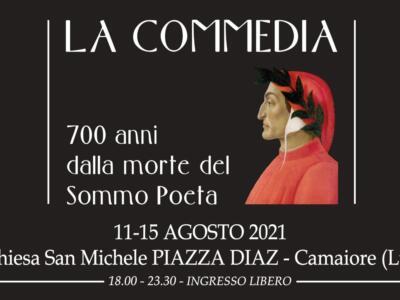 """""""La Commedia"""", a Camaiore l'installazione video dedicata a Dante dell'artista Nicola Raffaetà"""