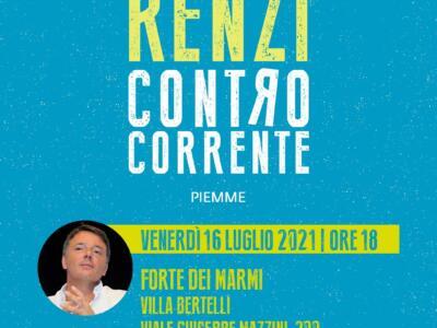 Matteo Renzi torna a Villa Bertelli con il nuovo libro Controcorrente