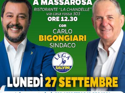 Salvini, Gelmini e Garavaglia a Massarosa per sostenere Carlo Bigongiari sindaco