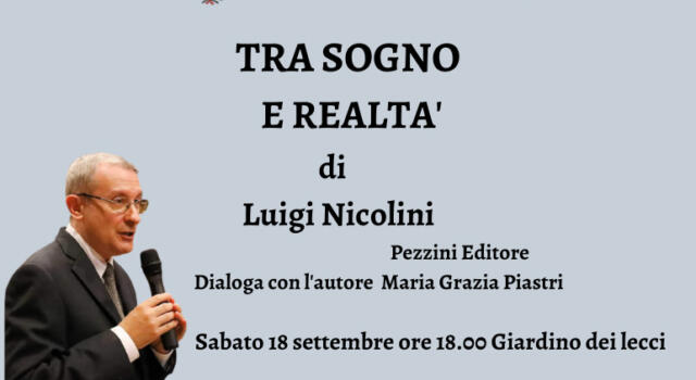 """Luigi Nicolini a Villa Bertelli: il compositore, pianista e scrittore presenta il libro """"Tra sogno e realtà"""""""
