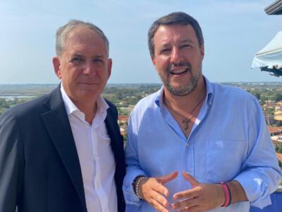Salvini a Massarosa per sostenere Carlo Bigongiari