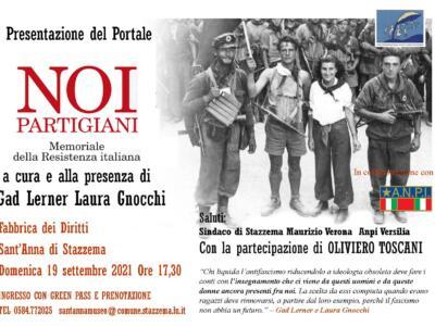 """""""Noi Partigiani"""": Gad Lerner e Laura Gnocchi presentano il memoriale dedicato ai protagonisti della resistenza"""
