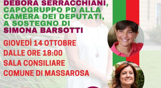 L' onorevole Debora Serracchiani a Massarosa per Simona Barsotti